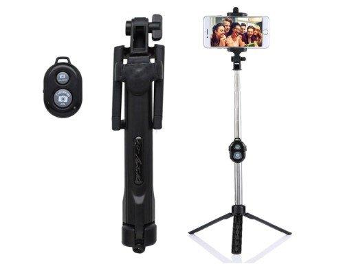 Mocco AF15 Premium Bluetooth Selfie Stick 95 cm ar portatīvu pogu Melns Selfie Stick