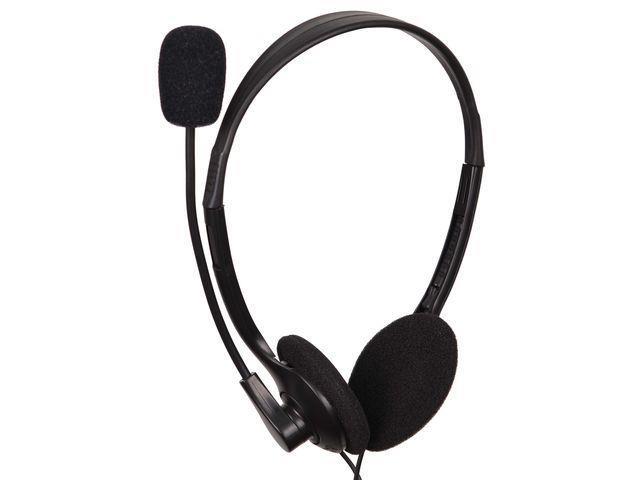 Gembird microphone & stereo headphones MHS-123 with volume control, black color austiņas