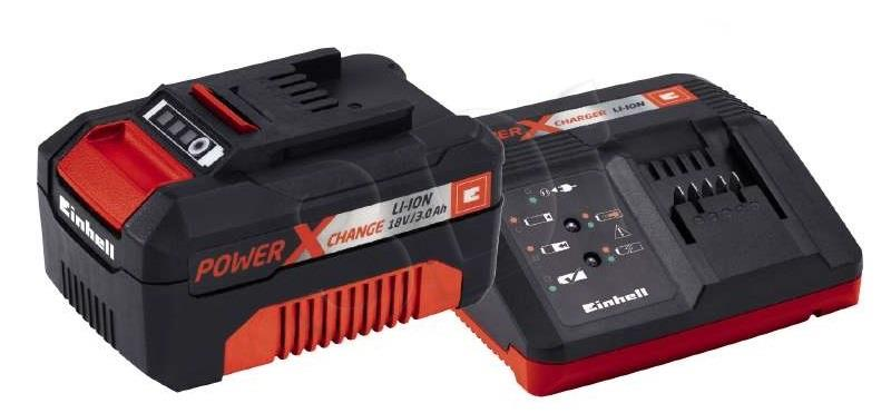 Einhell 4512041 Power X-Change Battery & Charger Starter Kit 18v 1 x 3.0Ah Li-Io