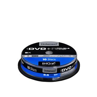 Intenso DVD+R DL DoubleLayer Print [ cakebox 10 | 8,5GB | 8x ] matricas