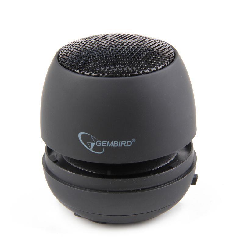 Portable speaker Gembird SPK-103, Audio 3.5mm, 2W, 40mm, 400mAh, 6h pārnēsājamais skaļrunis