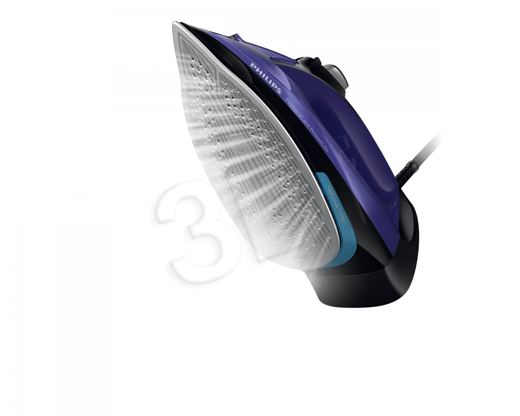 Philips PerfectCare GC3925/30 iron Steam iron SteamGlide Plus soleplate Black,Purple 2500 W Gludeklis