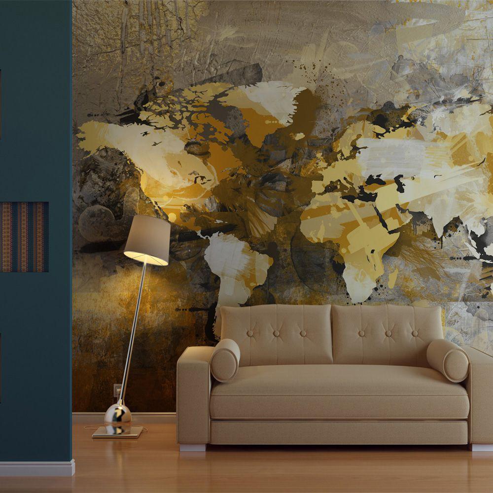Artgeist Fototapeta - Artystyczna mapa swiata 200x154 BP-LFTNT1511