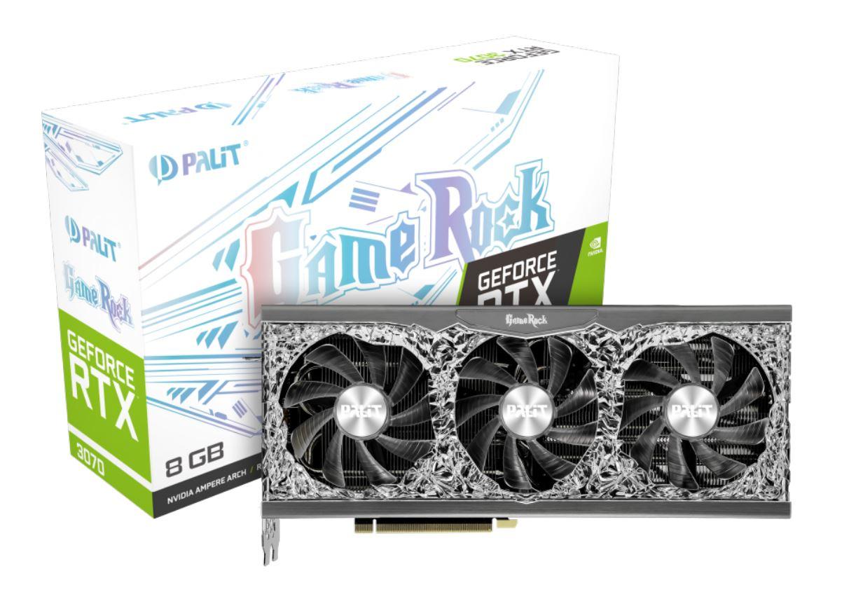 PALIT GeForce RTX 3070 GameRock 8GB GPU PCI Express 4.0 x16 Interface 1xHDMI 3xDP video karte
