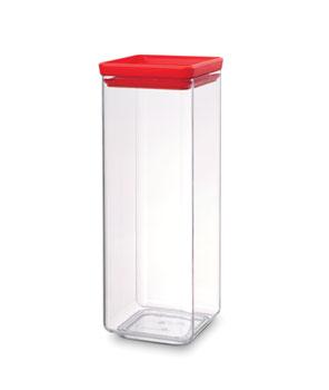 BRABANTIA k rba kantaina 2.5 l, v ks sarkans 290046 Pārtikas uzglabāšanas piederumi