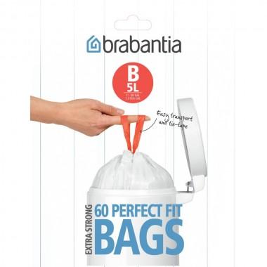 BRABANTIA atkritumu tvertņu maisiņi, 5 l, (B) (60 gab) 348969 4831