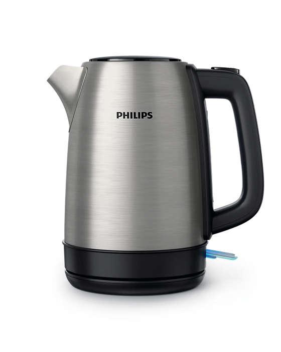 PHILIPS Tējkanna 2200W,1.7l (metāla) HD9350/91 Elektriskā Tējkanna