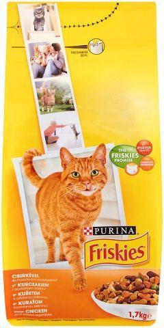 Purina FRISKIES SK ADULT - KURCZAK, WARZYWA 1,7KG kaķu barība