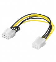 Goobay 93635 Power cable/adapter for PC graphics card; PCI-E/PCIExpress; 6-pin to 8-pin, 0.2m kabelis datoram