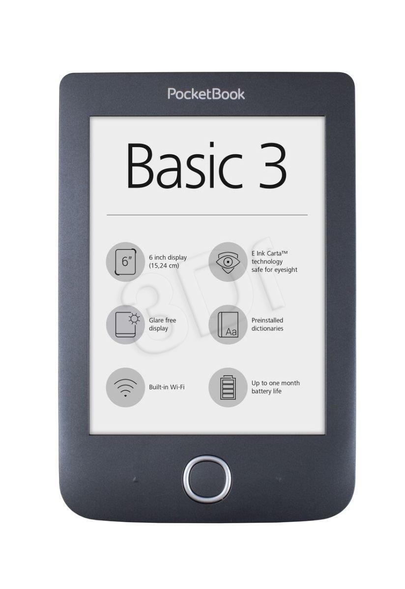 Czytnik PocketBook 614W Basic 3 Melns Elektroniskais grāmatu lasītājs