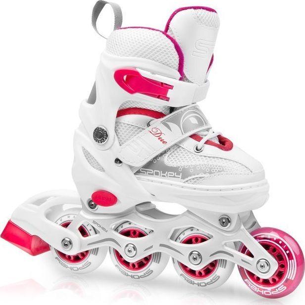 Spokey Roller Skates 2in1 Due white r. 34-37 (926917) Skrituļslidas