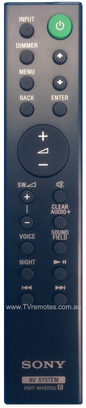 Sony Remote Commander (RMT-AH200U) pults