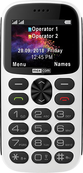Telefon komorkowy Maxcom MM471 bialy MAXCOMMM471BIALY Mobilais Telefons