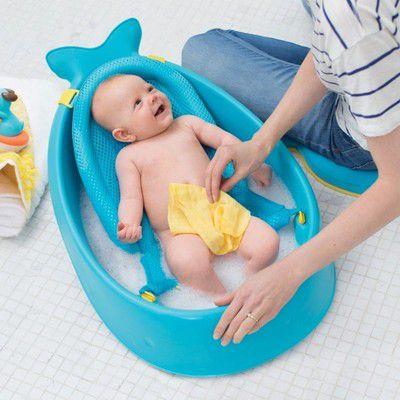 Skip Hop Bath Whale MOBY Blue aksesuāri bērniem