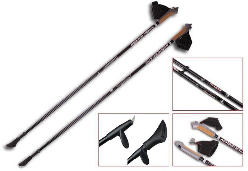 Sportech Stick Nordic Walking Titanium 105 cm (SMF116-D16)