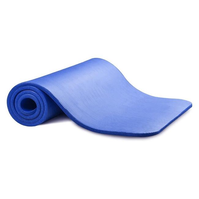 TakeMe Vingrošanas neslīdošs treniņu paklājs (181x63x1cm) uzglabāšanas somiņā Zils Sporta aksesuāri