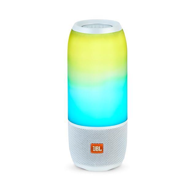 JBL PULSE 3 portatīvā skanda ar LED gaismas efektiem, ūdensizturīga, 12h, balta pārnēsājamais skaļrunis