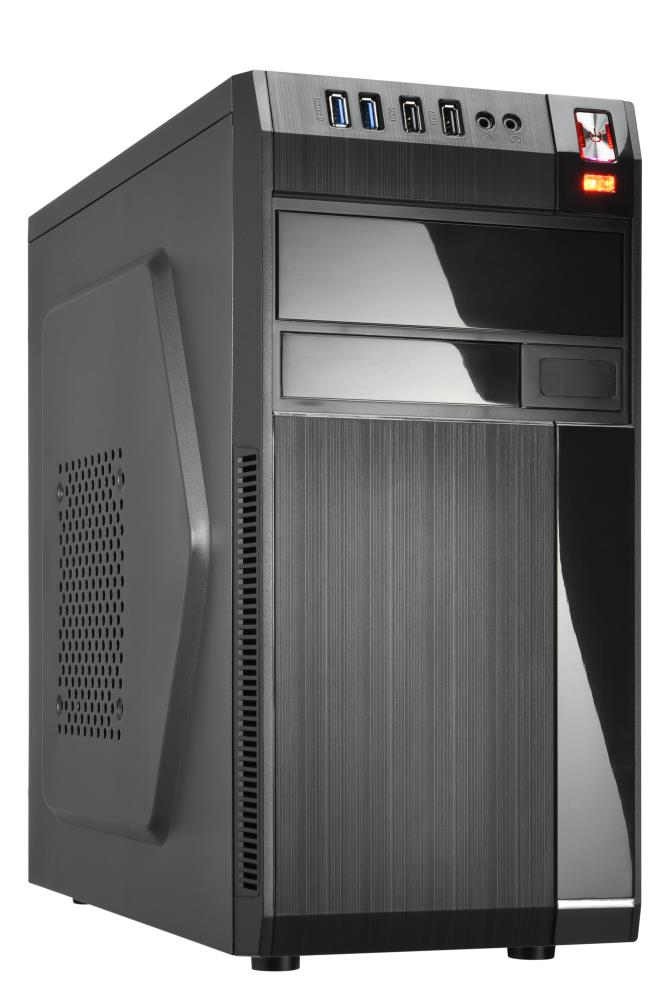 Case | GOLDEN TIGER | Baltimore 530 | MiniTower | 450 Watts | MicroATX | Colour Black | BALTIMORE5302USB2450W Datora korpuss