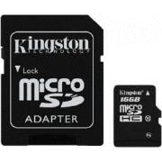 Kingston 16GB microSDHC Canvas Select 80R CL10 UHS-I Card + SD Adapter atmiņas karte