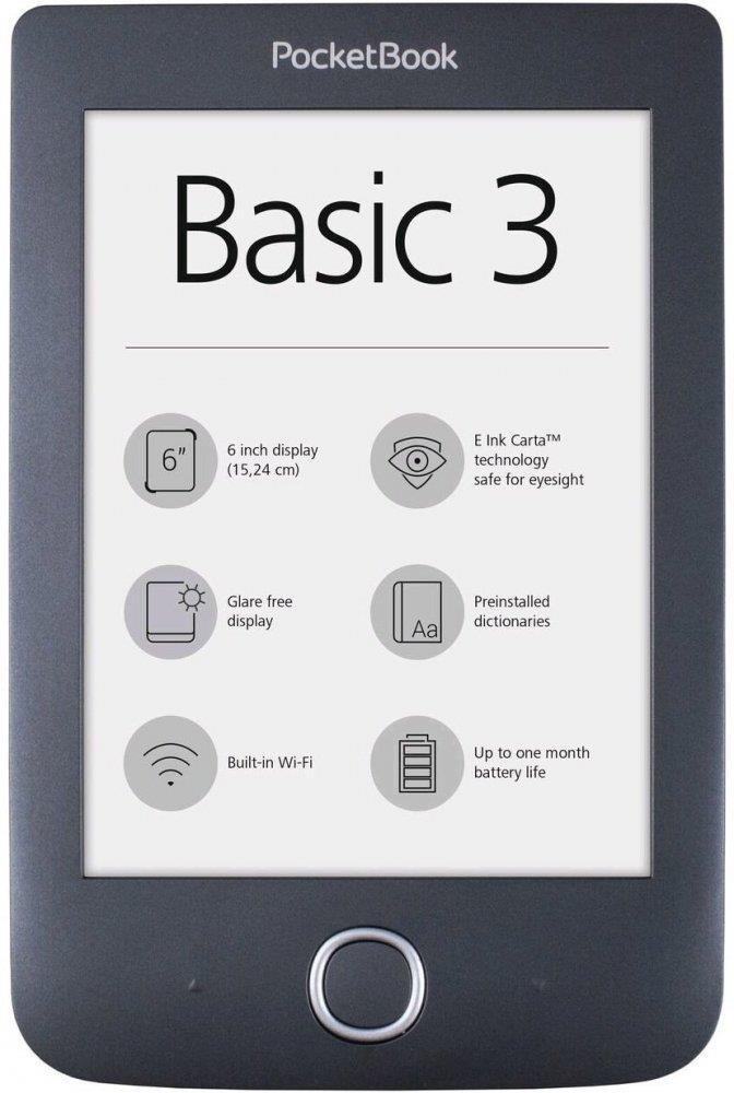 PocketBook Basic 3 black Elektroniskais grāmatu lasītājs