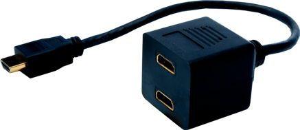 ASSMANN DIGITUS HDMI Y-SPLITTER CABLE 2XTYPE A kabelis, vads