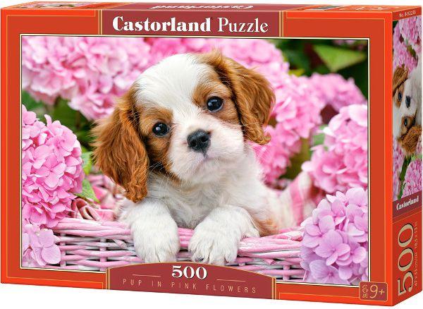 Castorland Puzzle Pup in Pink Flowers 500 pieces (52233) puzle, puzzle