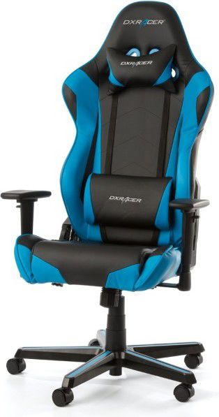 DXRacer Racing RZ0 Gaming Stuhl, Kunstleder - black/blau datorkrēsls, spēļukrēsls