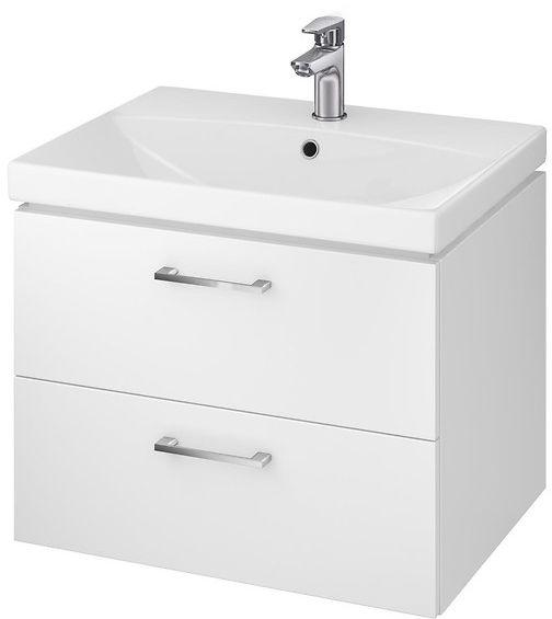 Cersanit Lara 60cm white gloss cabinet with washbasin (S801-142-DSM)