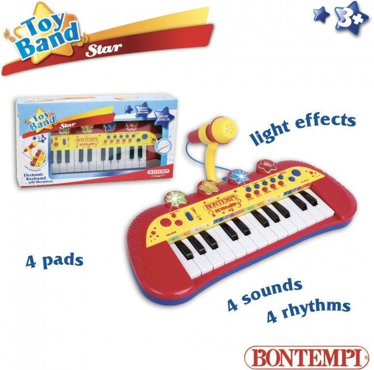 Dante Bontempi Star 24 key Keyboard z mikrofonem DANTE - 041-30827 041-30827