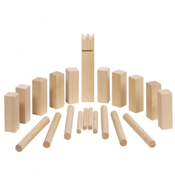 GoKi Wooden Mini Kubb Viking Chess konstruktors