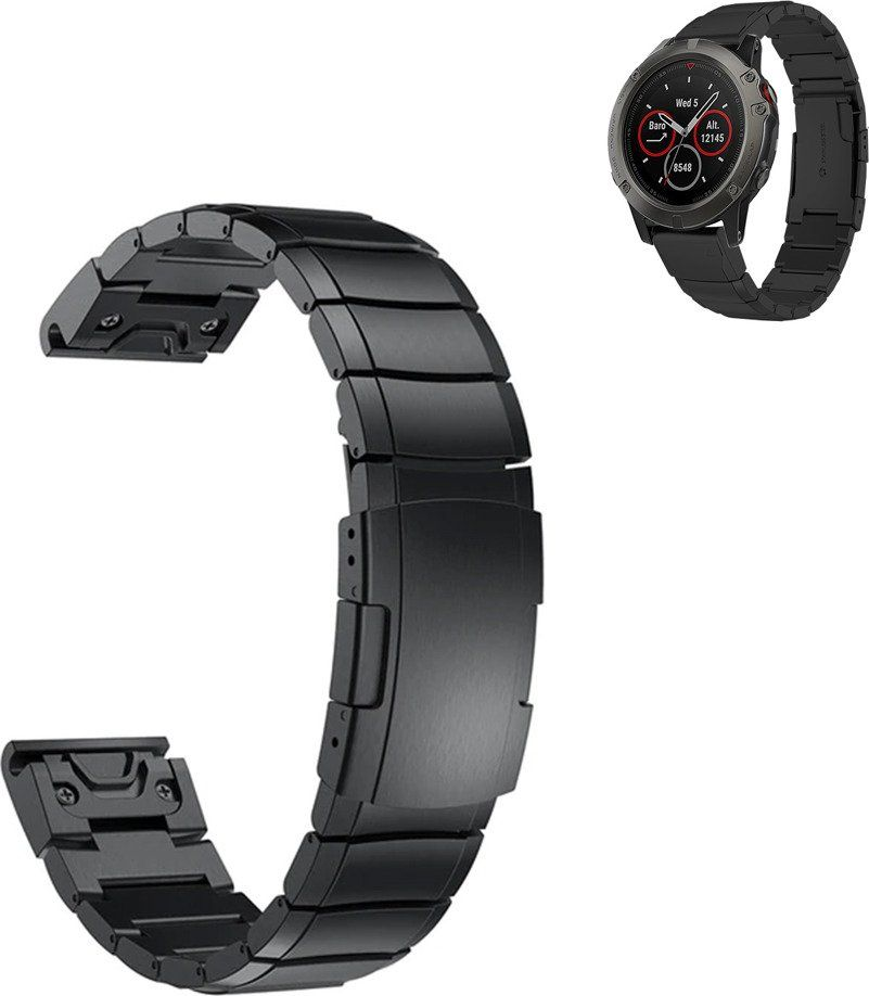 Steel belt for Garmin Fenix ​​5X - Black
