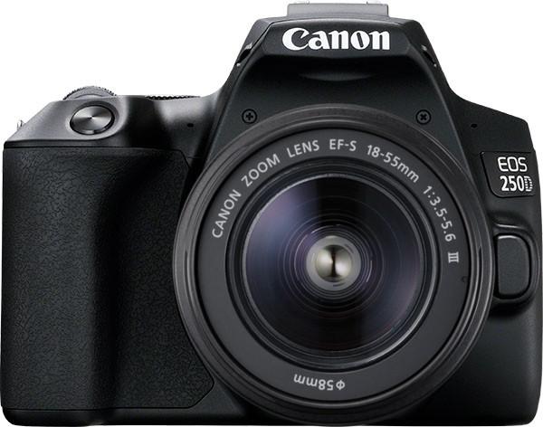 Canon EOS 250D + 18-55mm Kit, Black Spoguļkamera SLR