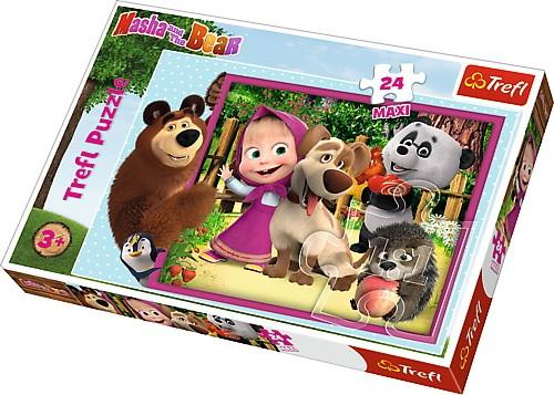 TREFL Puzzles 24 pcs Maxi Masha and the bear puzle, puzzle