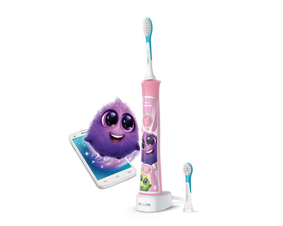 Philips Sonicare zobu birste bērniem ar bluetooth HX6352/42 mutes higiēnai