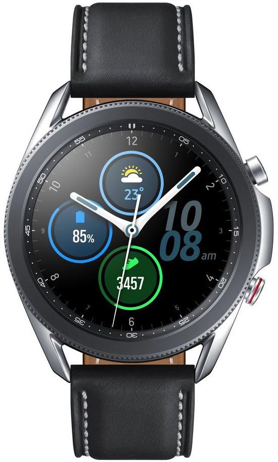 SAMSUNG Galaxy Watch3 LTE 45mm Silver Viedais pulkstenis, smartwatch