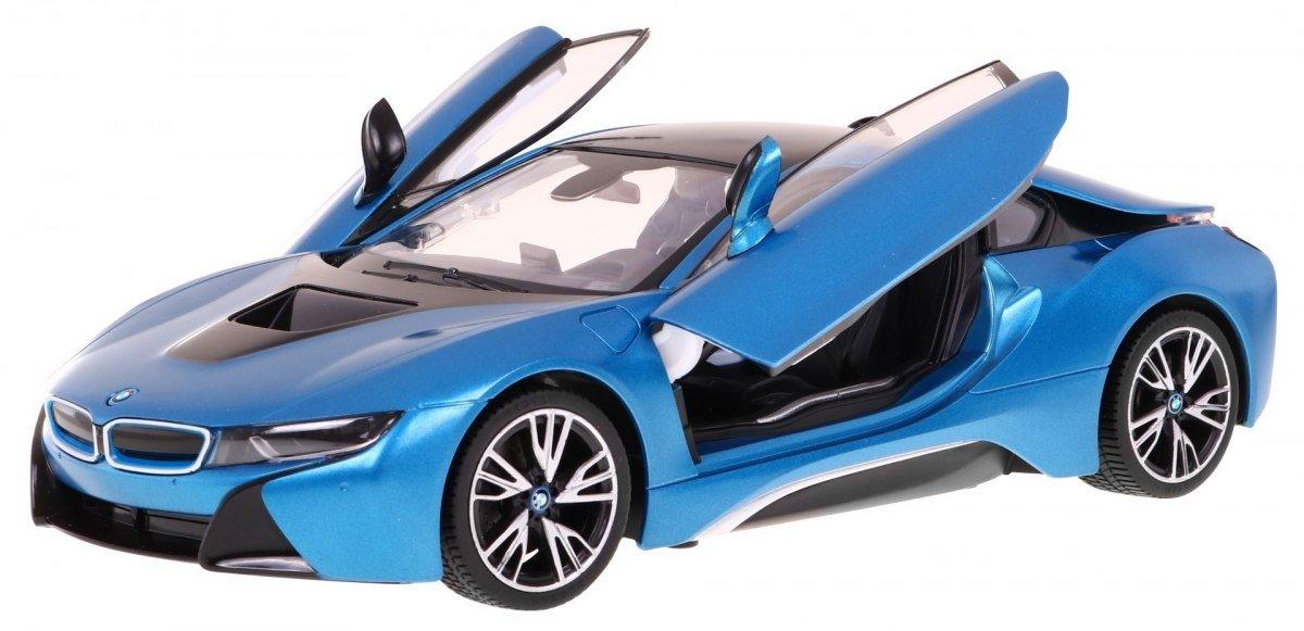 Rastar Radiovadāmā mašīna BMW i8 1:14 / 2.4 GHz / 2WD / Zils Radiovadāmā rotaļlieta