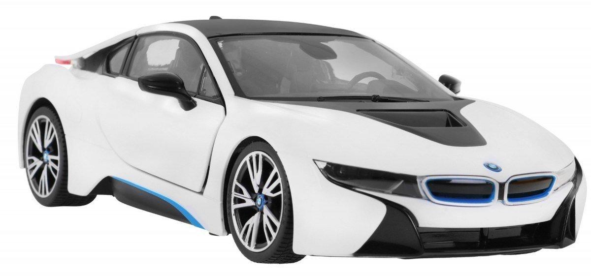 Rastar Radiovadāmā mašīna BMW i8 1:14 / 2.4 GHz / 2WD / Balts Radiovadāmā rotaļlieta