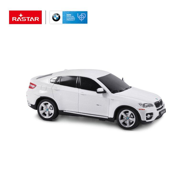 Rastar Radiovadāmā mašīna BMW X6 1:24 / 2.4 GHz / 2WD / Balta Radiovadāmā rotaļlieta