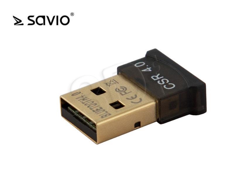 Savio BT-040 Bezvadu Bluetooth 4.0 Adapteris (USB 2.0, Wireless, 3Mbps)