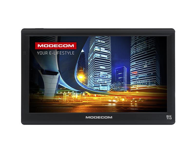 MODECOM FreeWAY SX 7.0 z mapami Europy MapFactor Navigācijas iekārta