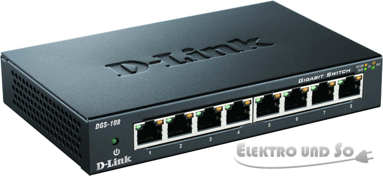 D-Link DGS-108/E komutators