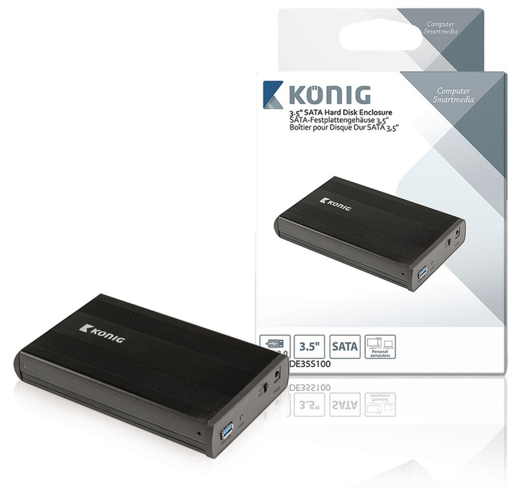 Konig 3.5'' S-ATA hard disk enclosure USB 3.0 cietā diska korpuss