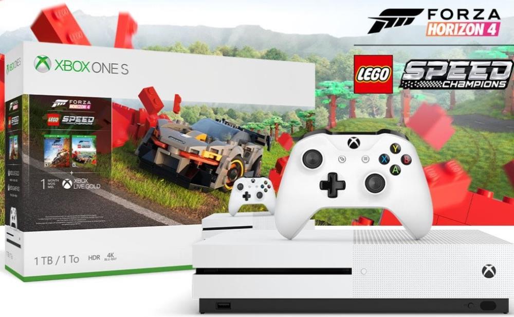 Microsoft Xbox One S 1TB incl. Forza 4 + Lego Speed spēļu konsole