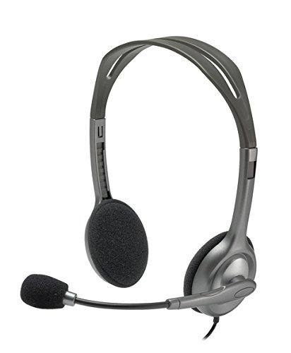 Logitech Stereo headset H111 Single 3.5 mm jack, Grey, Built-in microphone austiņas