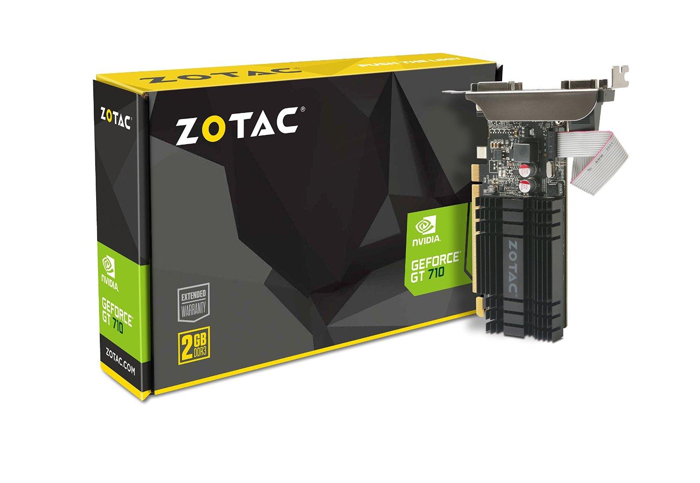 ZOTAC GeForce GT 710, 2GB DDR3 (64 Bit), HDMI, DVI, VGA video karte