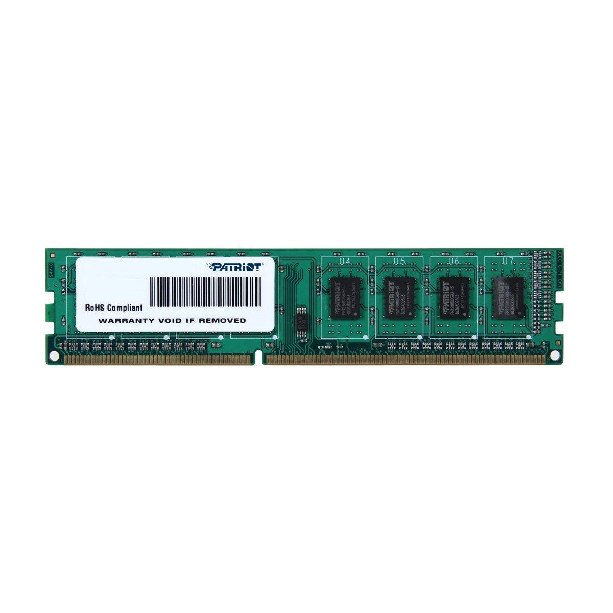 PATRIOT SIGNATURE DDR3 4GB PC3-10600 (1333MHZ) CL9 DIMM operatīvā atmiņa