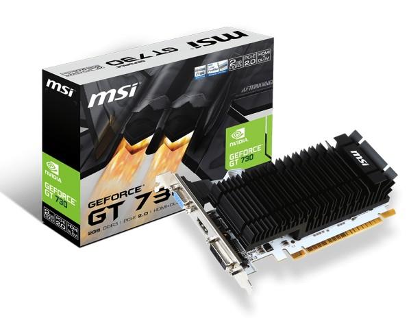 MSI GeForce GT 730, 2GB DDR3 (64 Bit), HDMI, DVI, D-Sub video karte
