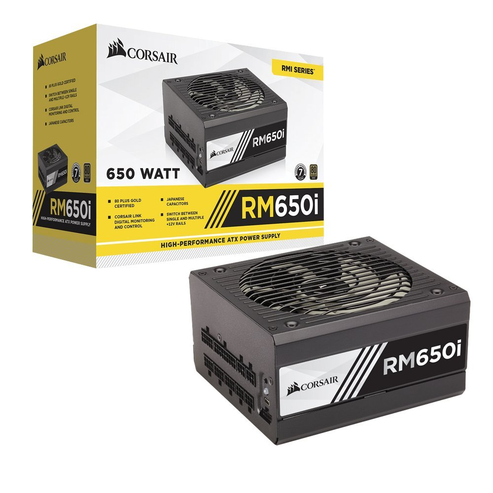 Corsair Enthusiast RMi RM650i 650W, 80 PLUS Gold, Fully modular, 135mm Barošanas bloks, PSU