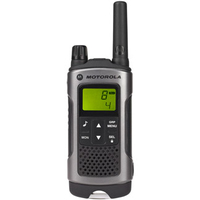 Motorola TLKR T80 short-wave radio, 10 km, Black-Grey 2pcs rācijas