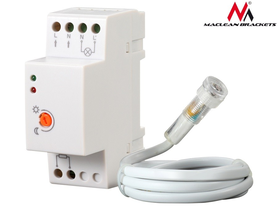 Maclean Twilight sensor DIN switch MCE83